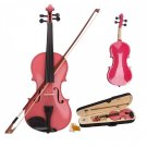 "New 10"" Student Viola With Case, Bow and Rosin ~ Pink"