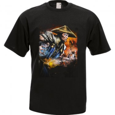 Raiden Mortal Kombat Black Men's T-Shirt