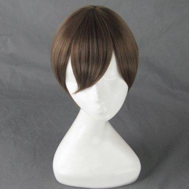 Gin Tama silver soul Okita Sougo short tea brown cosplay wig