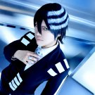 SOUL EATER Death The Kid short black white anime cosplay party full wig