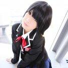 DATE A LIVE Tokisaki Kurumi 100cm long straight black anime cosplay party full wig