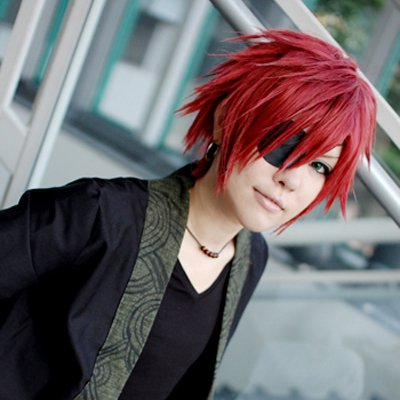 D.Gray-man Lavi short red anime cosplay party full wig
