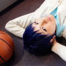 Kuroko No Basketball Aomine Daiki black blue mix short anime cosplay party full wig