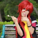 Kamigami no Asobi Loki Laevatein long 100cm braid red anime cosplay party full wig