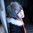 Togainu no Chi Akira short gray anime cosplay wig