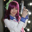 Angel Beats! Nakamura Yuri 60cm long purple red anime cosplay party full wig