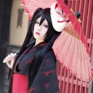 VOCALOID Miku  rasetsu to mukuro black long straight 120cm anime cosplay party full wig