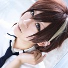 GuiltyCrown shu ouma short brown mix anime cosplay party full wig