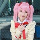 Puella Magi Madoka Magica Kaname Madoka short pink 2 clips ponytails anime cosplay party full wig