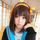 Suzumiya Haruhi short 45cm brown anime cosplay party full wig