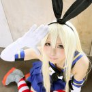 kantai collection Shimakaze long 80cm straight light blone anime cosplay party full wig