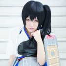 kantai collection Kaga black anime cosplay party full wig one ponytail