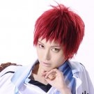 Kuroko No Basketball Akashi Seijuro short red anime cosplay party full wig