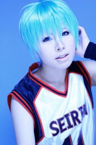 Kuroko No Basketball Kuroko Tetsuya ice blue short anime cosplay party full wig