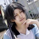 Prince of Tennis Atobe Keigo short gray purple anime cosplay party full wig