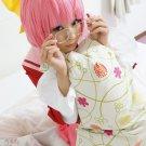 Kami nomi zo shiru sekai Nakagawa Kanon short pink anime cosplay party full hair wig