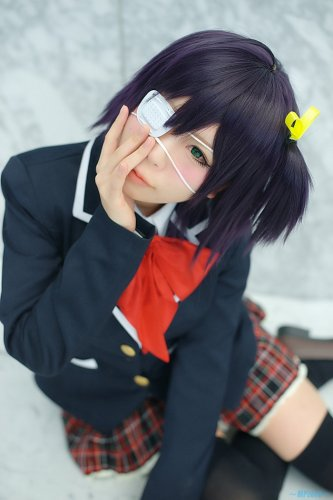 chuunibyou demo koi ga shitai Takanashi Rikka short black purple anime cosplay party full hair wig