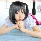 Hentai Ouji to Warawanai Neko Tsutsukakushi Tsukiko short gray anime cosplay party full hair wig