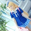 THE IDOLM@STER futaba anzu long blonde anime cosplay party full hair wig