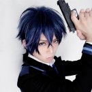 Black Bullet satomi rentaro short blue purple anime cosplay party full hair wig