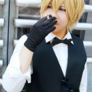 DuRaRaRa!! Hewajima shizuo short gold anime cosplay party full hair wig