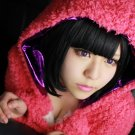 JOJO'S bizarre adventure Daiya Higashikata short black anime cosplay party full hair wig