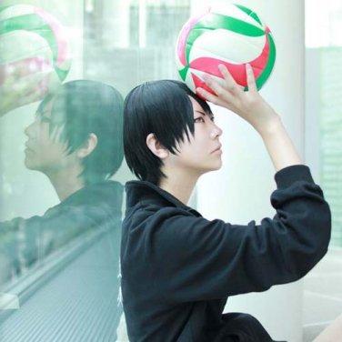 Haikyuu!! kageyama tobio black short cosplay anime hair full wig support wholesale