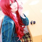 Uta no Prince-sama Shibuya Tomochika long curly red anime cosplay party full hair wig