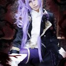 vocaloid Gakupo purple long curly anime cosplay party full hair wig + 2 ponytail