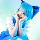 TouHou Project Cirno EVA Ayanami Rei short blue anime cosplay party full hair wig
