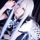 Haiyoru! Nyaruani Nyaruko haiyore nyarukosan long straight silver white 100cm anime cosplay wig