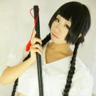 ZONE-00 MAYOKO long black braid pigtail anime cosplay party full hair wig