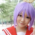 Lucky Star Hiiragi Tsukasa short purple anime cosplay wig
