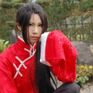 Naruto Uchiha Itachi axis power hetalia APH  Wang Yao long 80cm straight black cosplay wig