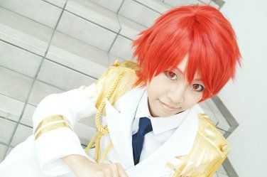 Uta no Prince-sama Ittoki Otoya short orange red cosplay wig