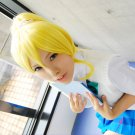 Love Live Ayasei Eli golden clip on ponytail cosplay wig