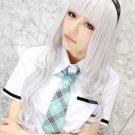 iDOL MASTER-Xenoglossia Shijou Takane white curly 80cm cosplay wig