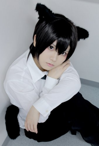 LOVELESS AOYAGI RITSUKA short black cosplay anime full hair wig  not include ears