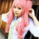 ONE PIECE Perona long pink curly 2 clip 75cm ponytails anime cosplay wig