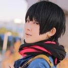 Beyond the Boundary Nase Hiroomi short black anime Cosplay wig