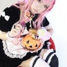 Zero no Tsukaima Louise Francoise le Blanc de la valliere long 80cm pink curly anime cosplay wig