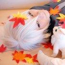 Hiiro no Kakera Yuuichi Komura short silver white cosplay wig