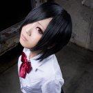 Tokyo Ghoul Kirishima Touka Wig Synthetic Short Black Straight Anime Cosplay Wig