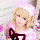 Rozen Maiden Hinaiyichigo short curly blonde lovely Lolita cosplay wig
