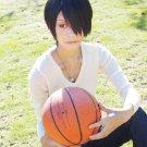 Himuro Tatsuya Kuroko no Basuke 2 short black costume cosplay wig