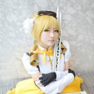 Puella Magi Madoka Magica‎ Tomoe Mami curly blonde golden cosplay wig 2 clips