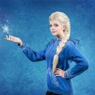 Frozen Snow Queen Elsa light blonde Weaving Braid Full Long Cosplay Wig