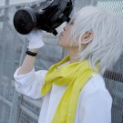 Dramatical Murder DMMD Clear Short Silver White Cosplay Full Wig + Free Wig Cap