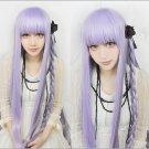 Danganronpa Dangan-Ronpa 2 Kyouko Kirigiri Long 100cm Purple Anime Cosplay Wig + free wig cap