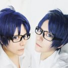 Free Rei Ryugazaki Short Blue mix Cosplay Wig
